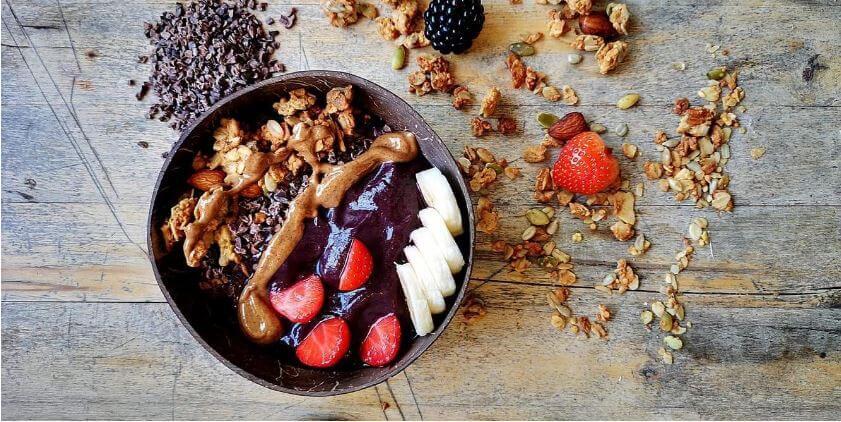 smoothie bowl recepten met acai -peanut monkey
